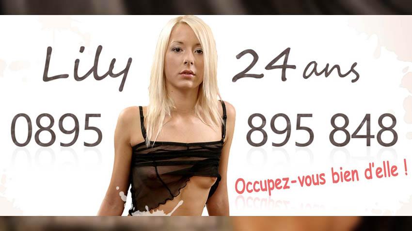 sex au tel avec jeune femme blonde sexy
